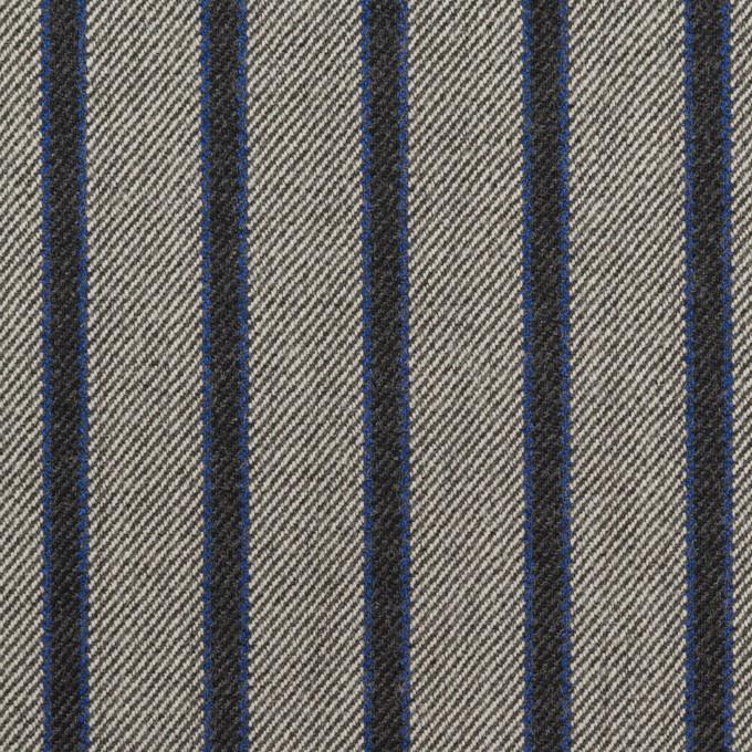 コットン&ポリウレタン×ストライプ(グレー&チャコール)×サージストレッチ イメージ1