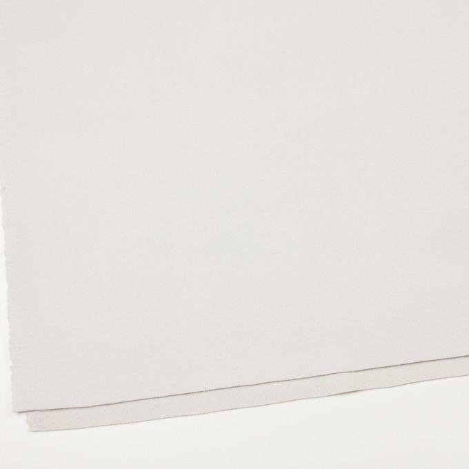 ウール&ナイロン×無地(パールグレー)×フラノ(フランネル) イメージ2
