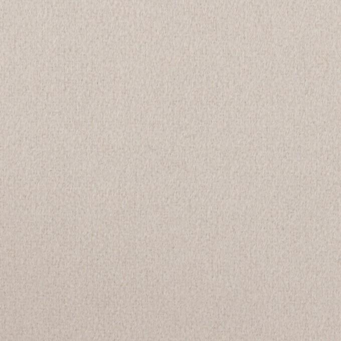 ウール×無地(オイスターグレー)×フラノ(フランネル) イメージ1