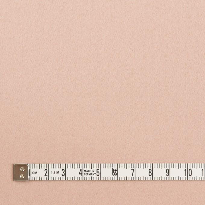 ウール×無地(ピンクベージュ)×フラノ(フランネル) イメージ4