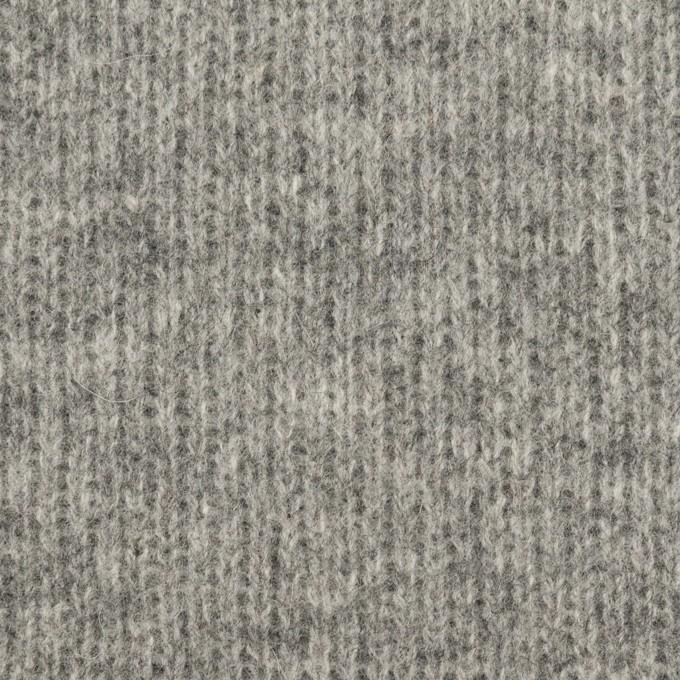 ウール&コットン×無地(グレー&チャコールグレー)×Wニット_全2色 イメージ1