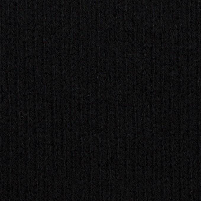 ウール&コットン×無地(ブラック&チャコールグレー)×Wニット_全2色 イメージ1