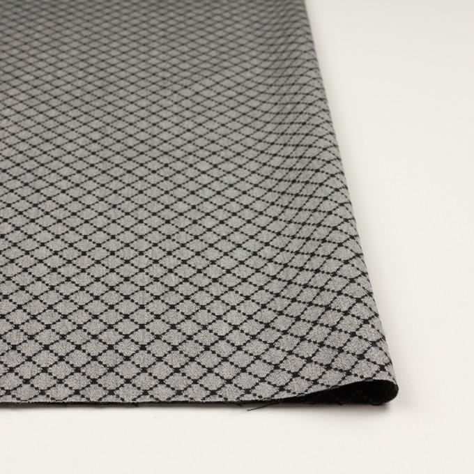 ウール×小紋(グレー&ブラック)×ジャガード イメージ3