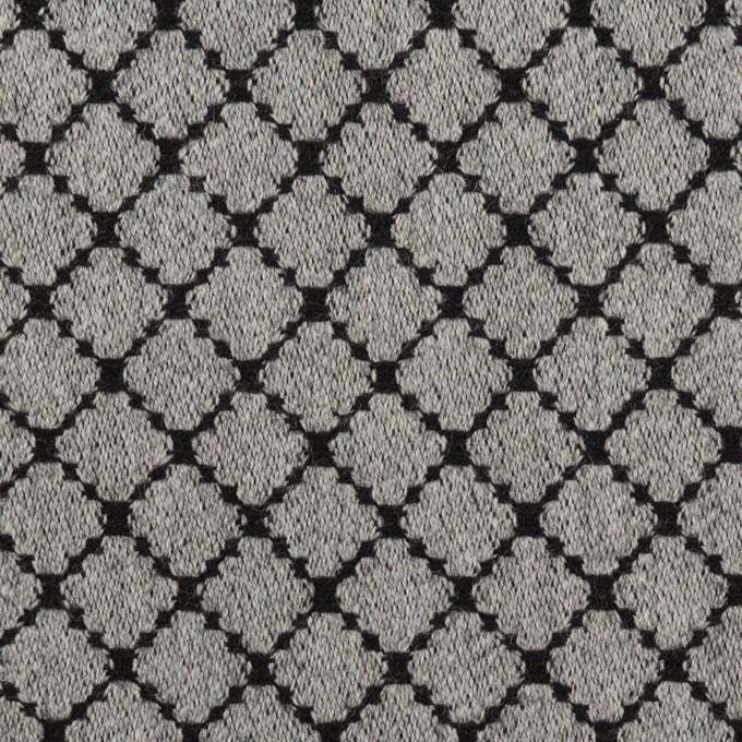 ウール×小紋(グレー&ブラック)×ジャガード イメージ1