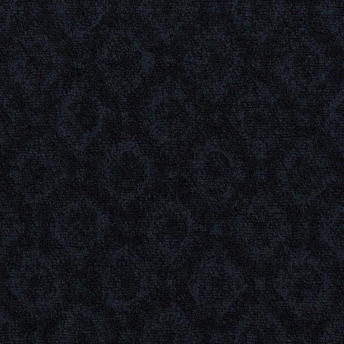 テンセル&アクリル混×小紋(ダークネイビー)×ジャガード イメージ1