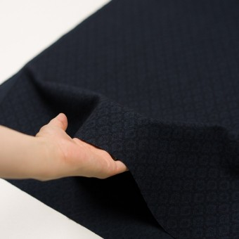 テンセル&アクリル混×小紋(ダークネイビー)×ジャガード サムネイル5