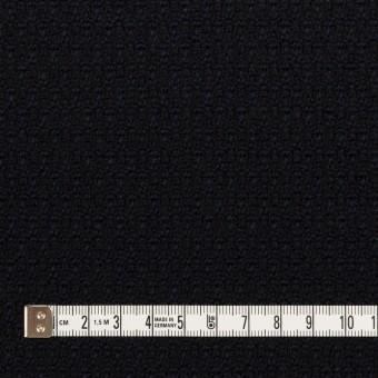 ウール×無地(ダークネイビー)×ツイード サムネイル4