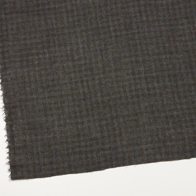 ウール×チェック(ブルーグレー&チャコール)×ガーゼ イメージ2