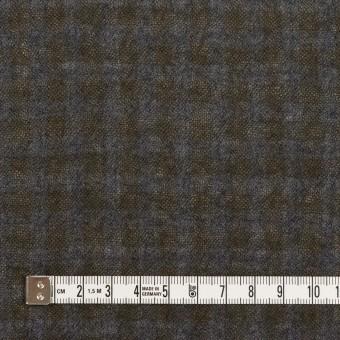 ウール×チェック(ブルーグレー&チャコール)×ガーゼ サムネイル4