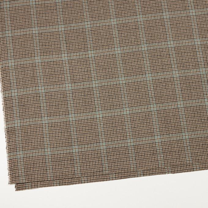 ウール×チェック(ブラウン&サックス)×千鳥格子 イメージ2