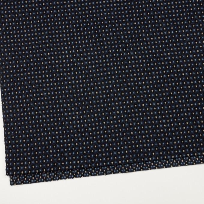 ウール×ドット(ベージュ、サックス&ネイビー)×二重織ツイード イメージ2