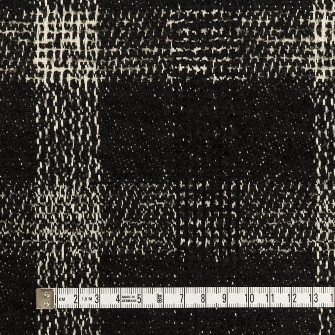 コットン&ウール混×チェック(キナリ&ブラック)×ファンシーツイード イメージ4