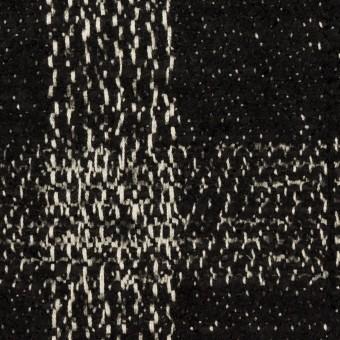 コットン&ウール混×チェック(キナリ&ブラック)×ファンシーツイード サムネイル1