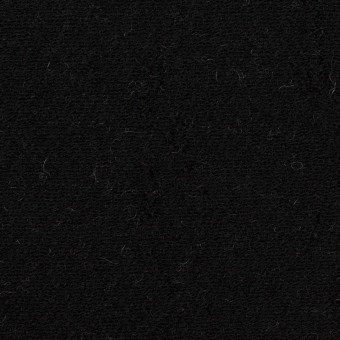 ウール&コットン×無地(ブラック&アイボリー)×二重織