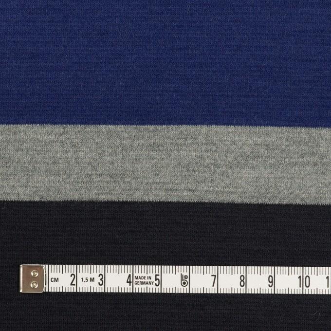 ウール×ボーダー(マリンブルー、グレー&チャコールブラック)×Wニット_パネル イメージ4