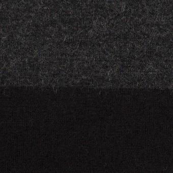 ウール×ボーダー(チャコールグレー&ブラック)×天竺ニット サムネイル1
