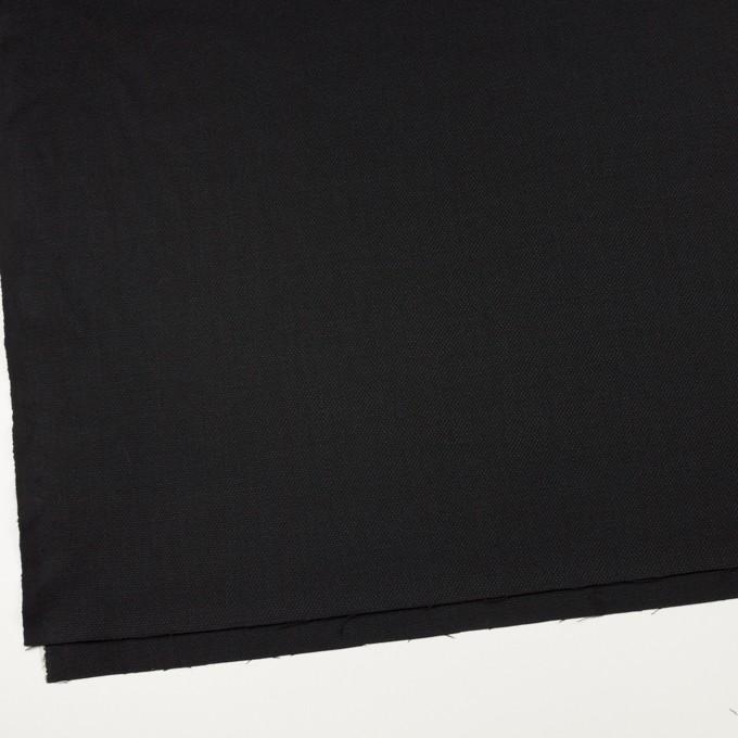 ウール×無地(ブラック)×斜子織 イメージ2