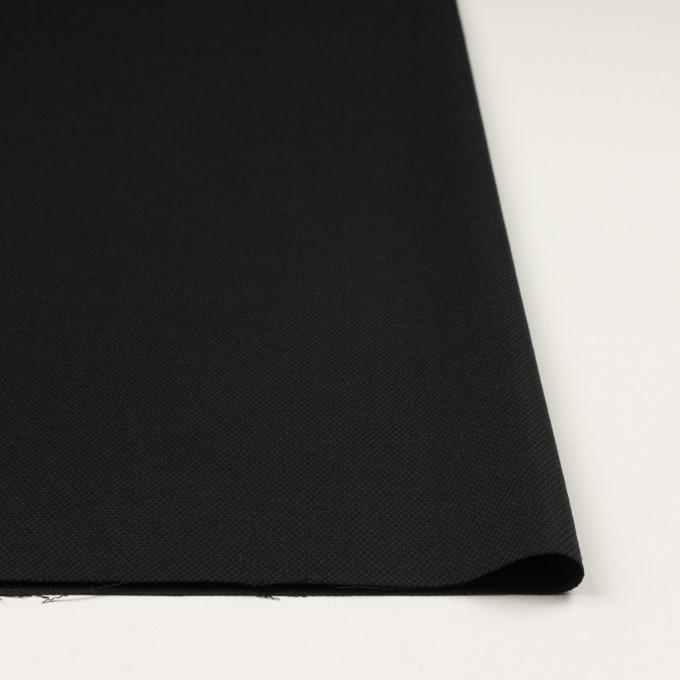ウール×無地(ブラック)×斜子織 イメージ3
