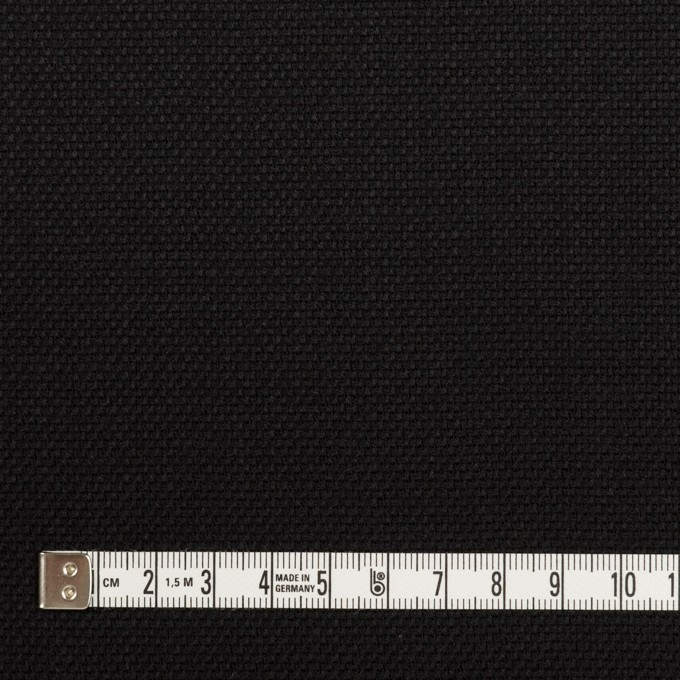 ウール×無地(ブラック)×斜子織 イメージ4