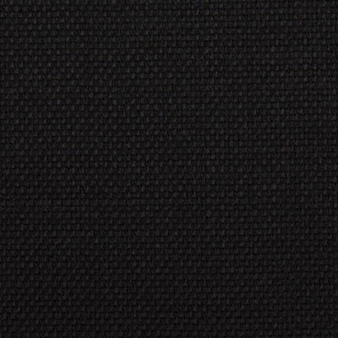 ウール×無地(ブラック)×斜子織 イメージ1