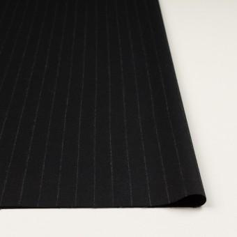 ウール×ストライプ(ブラック)×サージ サムネイル3