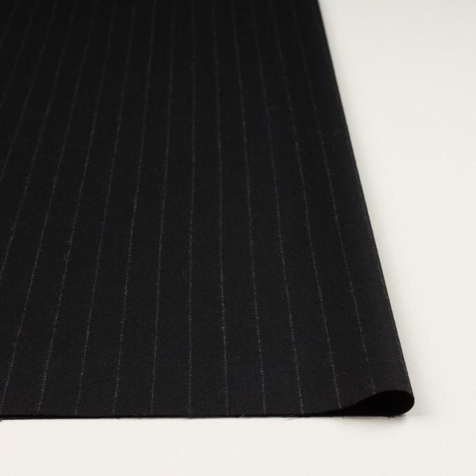 ウール×ストライプ(ブラック)×サージ イメージ3