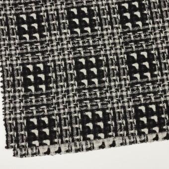 ウール×チェック(アイボリー&ブラック)×二重織ガーゼ サムネイル2