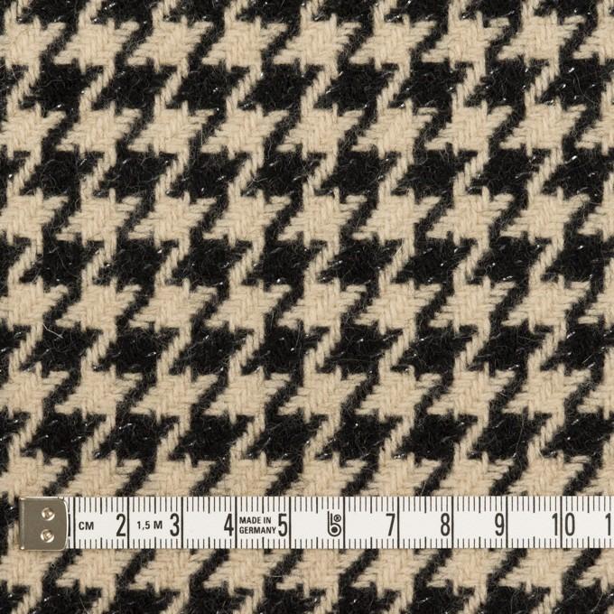ウール&アルパカ混×チェック(ベージュ&ブラック)×千鳥格子 イメージ4