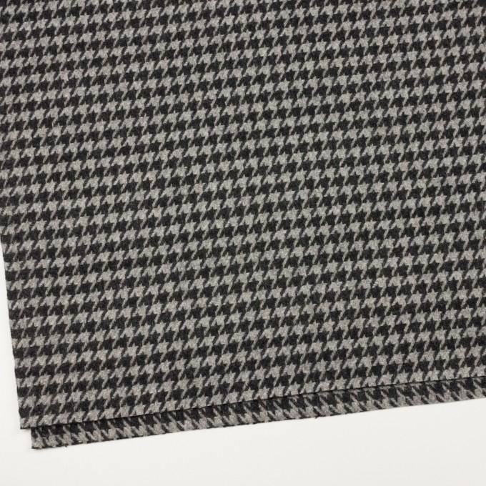 ウール&アンゴラ×チェック(グレー&チャコール)×千鳥格子 イメージ2