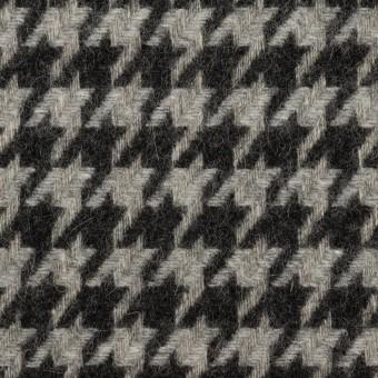 ウール&アンゴラ×チェック(グレー&チャコール)×千鳥格子
