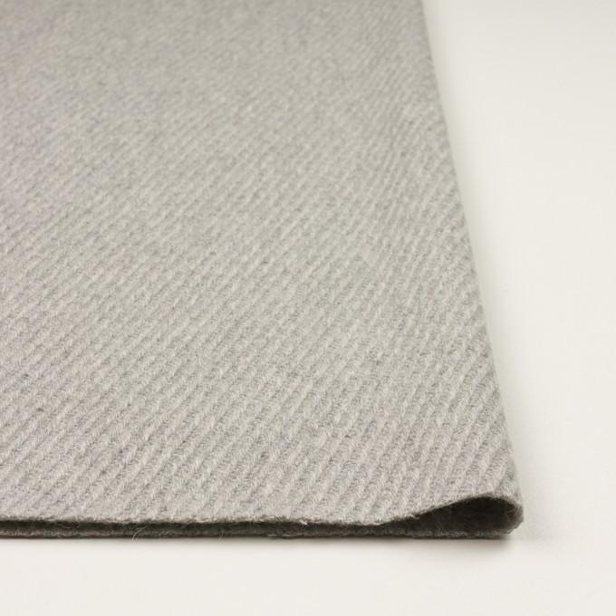 ウール×無地(ライトグレー)×カルゼ_全2色 イメージ3