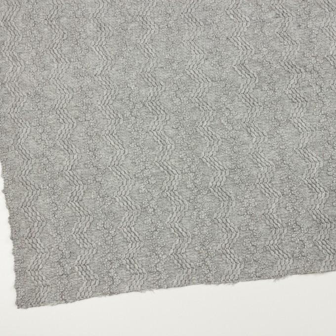 ウール&アクリル混×幾何学模様(ライトグレー)×かわり織 イメージ2