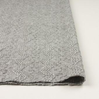 ウール&アクリル混×幾何学模様(ライトグレー)×かわり織 サムネイル3