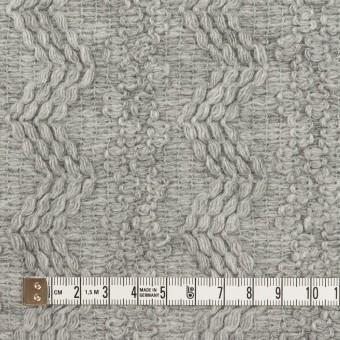 ウール&アクリル混×幾何学模様(ライトグレー)×かわり織 サムネイル4
