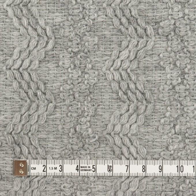 ウール&アクリル混×幾何学模様(ライトグレー)×かわり織 イメージ4