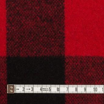 ウール×チェック(レッド&ブラック)×ツイード サムネイル4