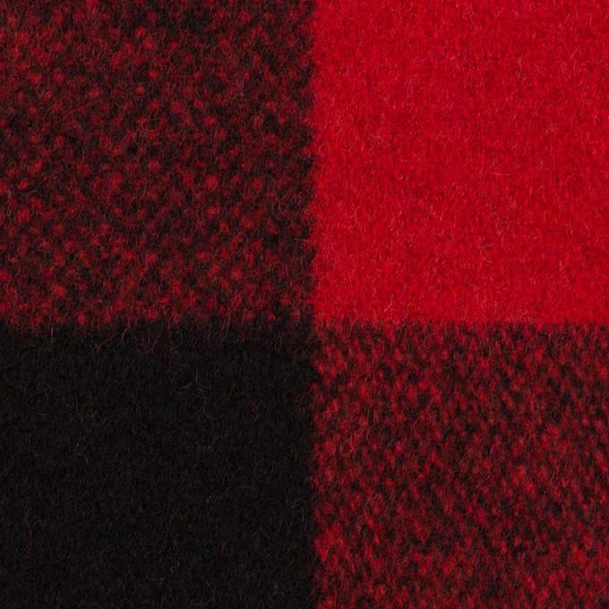 ウール×チェック(レッド&ブラック)×ツイード イメージ1