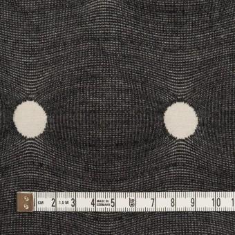 アクリル&ポリエステル混×水玉(チャコールグレー&アイボリー)×ジャガードニット サムネイル4