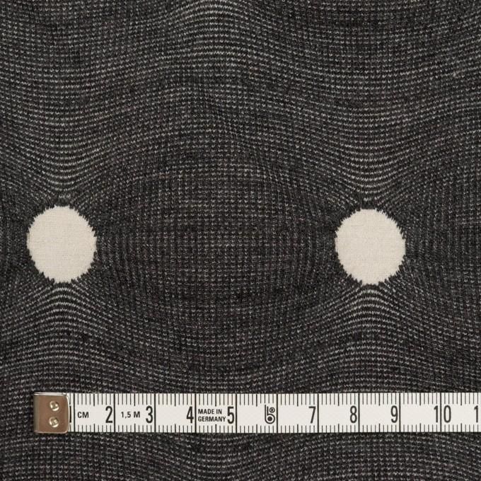 アクリル&ポリエステル混×水玉(チャコールグレー&アイボリー)×ジャガードニット イメージ4