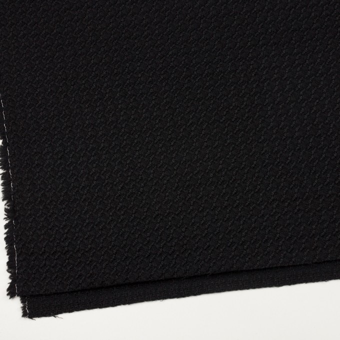 ウール×無地(ブラック)×かわり織_全2色 イメージ2