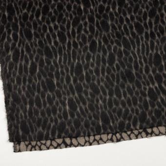 ウール×レオパード(ベージュ&チャコールブラック)×シャギー サムネイル2