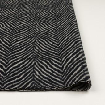 ウール&アンゴラ×ゼブラ(アイボリー&ブラック)×ビーバー_全2色 サムネイル3