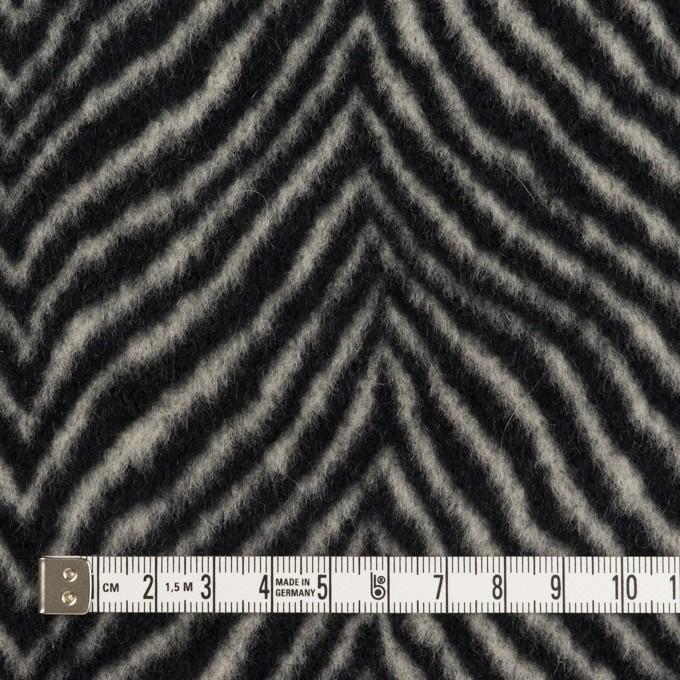 ウール&アンゴラ×ゼブラ(アイボリー&ブラック)×ビーバー_全2色 イメージ4