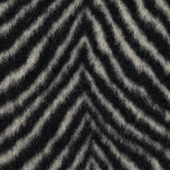ウール&アンゴラ×ゼブラ(アイボリー&ブラック)×ビーバー_全2色 サムネイル1