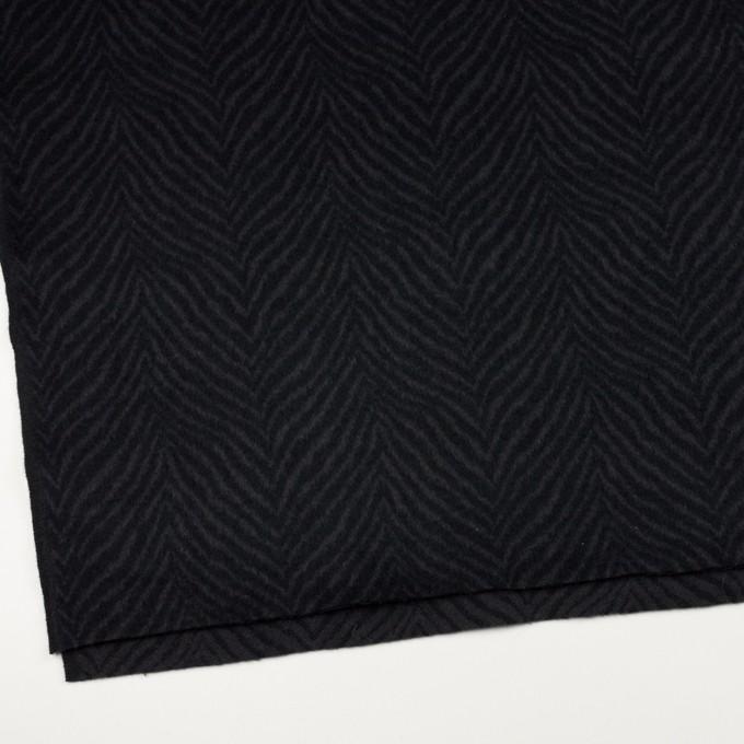 ウール&アンゴラ×ゼブラ(チャコール&ブラック)×ビーバー_全2色 イメージ2