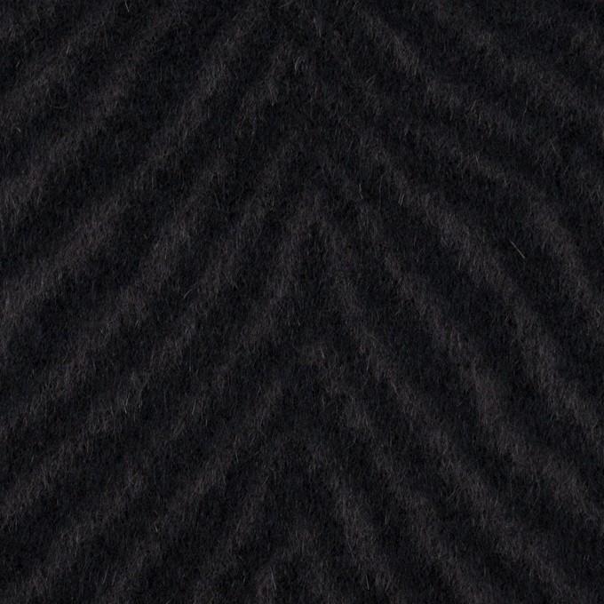 ウール&アンゴラ×ゼブラ(チャコール&ブラック)×ビーバー_全2色 イメージ1