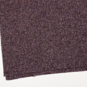ウール&モヘア混×ミックス(グレープ&チャコール)×ファンシーツイード_全3色 サムネイル2