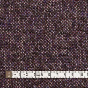ウール&モヘア混×ミックス(グレープ&チャコール)×ファンシーツイード_全3色 サムネイル4
