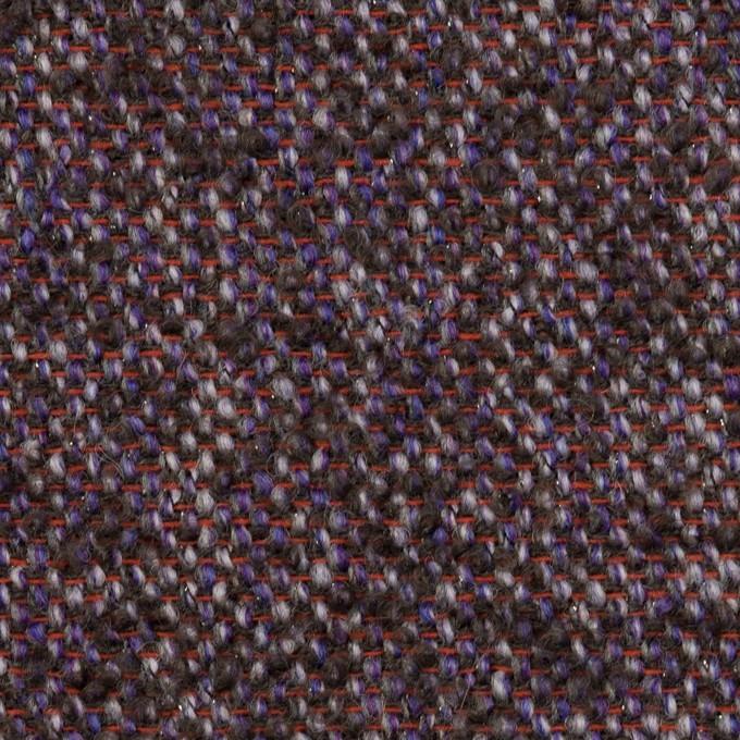 ウール&モヘア混×ミックス(グレープ&チャコール)×ファンシーツイード_全3色 イメージ1