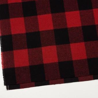 ウール×チェック(レッド&ブラック)×フラノ(フランネル) サムネイル2